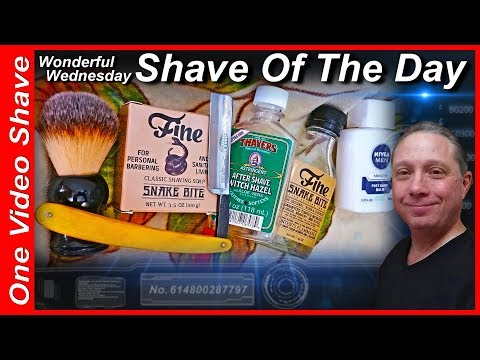 Your Wonderful Wednesday Straight Razor Shave Of The Day with Fine SNAKE BITE