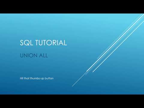 SQL Tutorial - UNION ALL