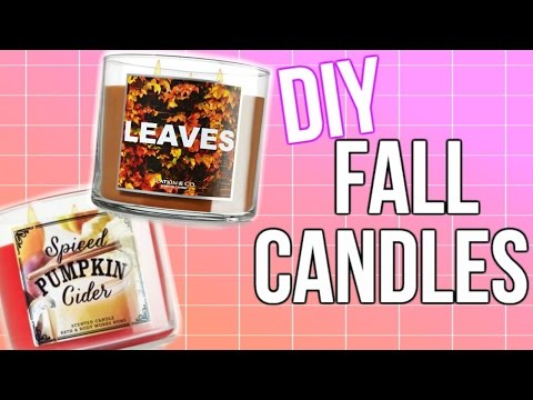 DIY Bath & Body Works Fall Candles | Courtney Lundquist
