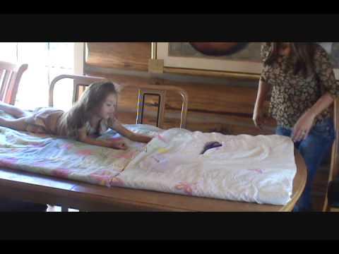 DIY-From Comforter to Sleeping Bag