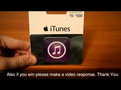 iTunes Gift Card Giveaway - Apps, Music, Games Giveaways