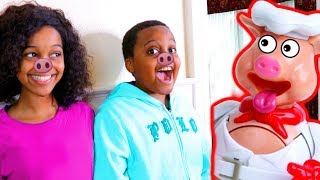 TOY POP THE PIG vs Shiloh and Shasha! - Onyx Kids