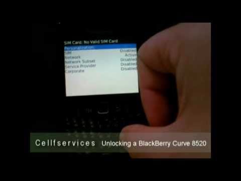 How to Unlock a BlackBerry Curve 8520 with unlock Code -- AT&T, Rogers, T-mobile, Fido