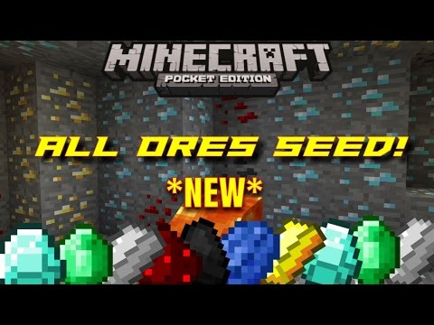 MCPE BEST SEED EVER! All ores under spawn! Minecraft PE (Pocket Edition) 0.11.0 - 0.12.0