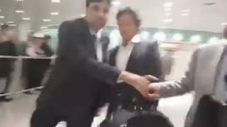 PTI Leader IMRAN KHAN arrival at London Heathrow k2tv syed kashif sajjad
