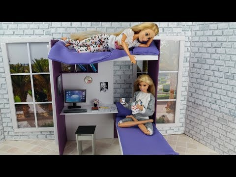 How to make a doll bunk bed for Barbie bedroom