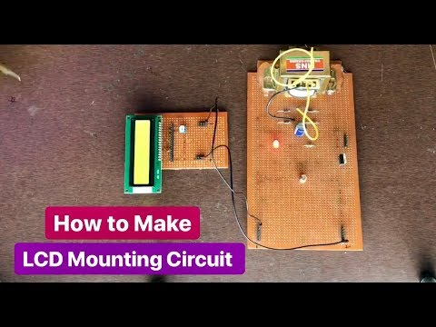 How to Make LCD mounting Circuit for Controller