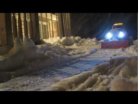 Homemade RC Snow Plow on CLod Buster Axles