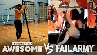 Wins Vs. Fails | Pole Spins, Heavy Lifting & More | PAA Vs. FailArmy!