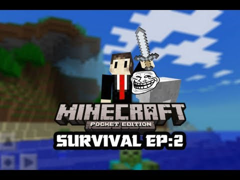 Survival Let's Play | Minecraft Pocket Edition | Episode:2 Saving Private Sheepy