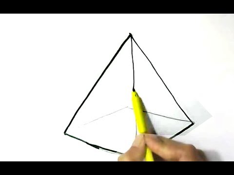 How to draw pyramid  easy step by step for children, kids, beginners
