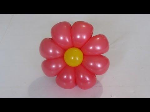 ромашка 8 лепестков из шаров / 8-petals flower balloon (Subtitles)