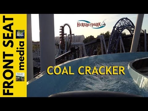 Coal Cracker 4K POV Hersheypark Log Flume On-Ride Arrow 2016 Water Hydroflume Boat Ride