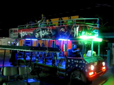 party bus in holbox