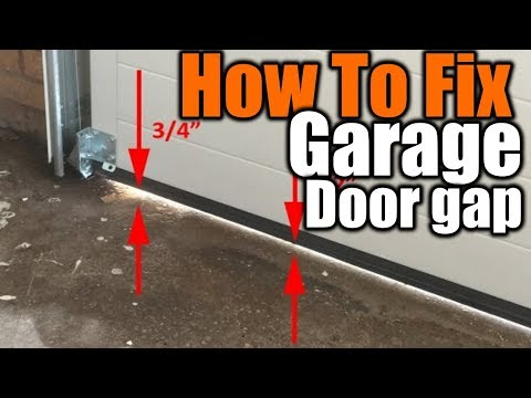 How To Fix Air Gaps On Your Garage Door