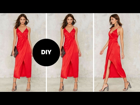 DIY I How To Make A Wrap Dress I Valentine's Day Outfit Inspiration