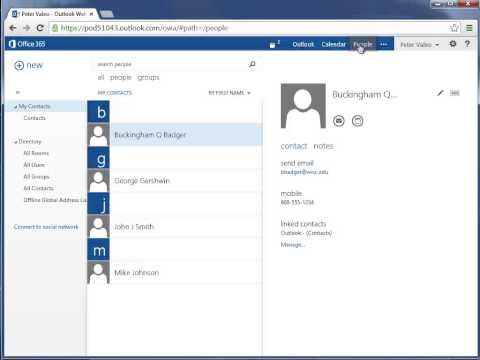 Create A Contact Group - Office 365 Outlook Web App - Email