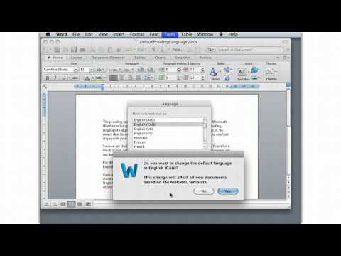 Word 2011 Mac Setting Proofing Language