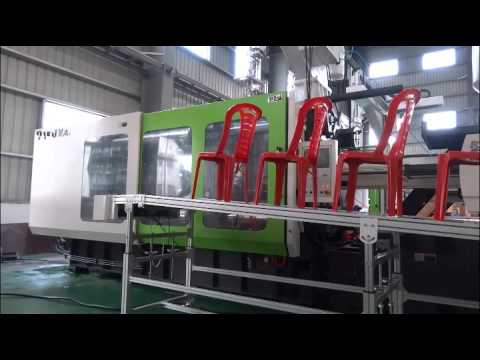 Plastic armless chair mould by using 780Ton injection molding machine