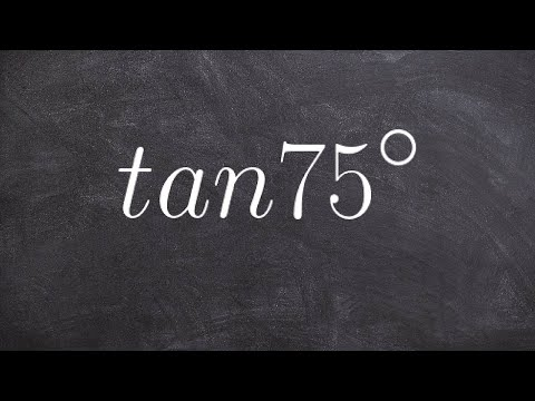 How to use the half angle formula for tangent tan75