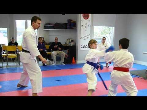 11 & Under, Girls and Boys Sparring in Karate - Inter-Dojo Shotokan League of Manitoba 2012