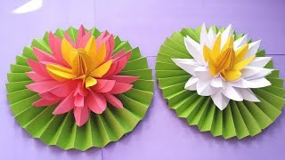 0425 How To Make Lotus Flower With Paper Easy Video Playkindle