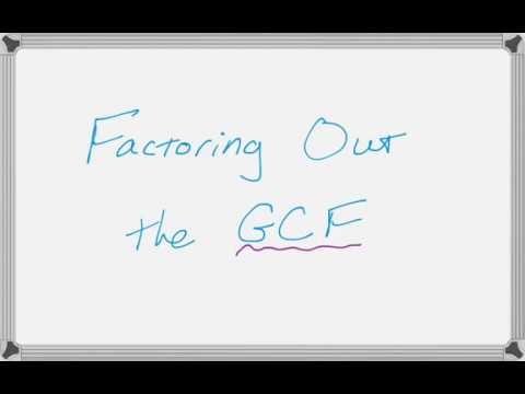 Factoring Out the Greatest Common Factor (GCF)