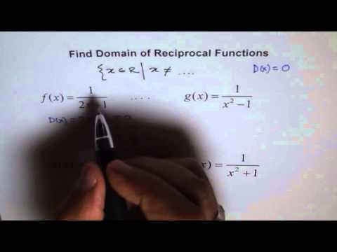 Quiz Domain of Reciprocal Function