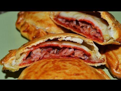 Bacon, Ham & Chorizo Mini Turnovers - Easy Homemade Mini Pasties Recipe