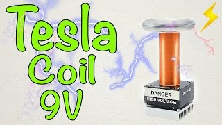 How to make a mini Tesla coil 9V