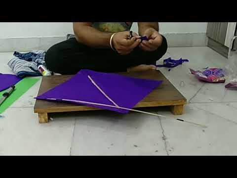 How to make kite ..By..flying colours