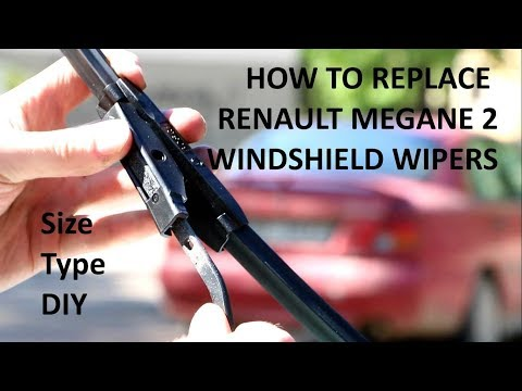How to Replace Windshield Wipers on Your Renault Megane 2