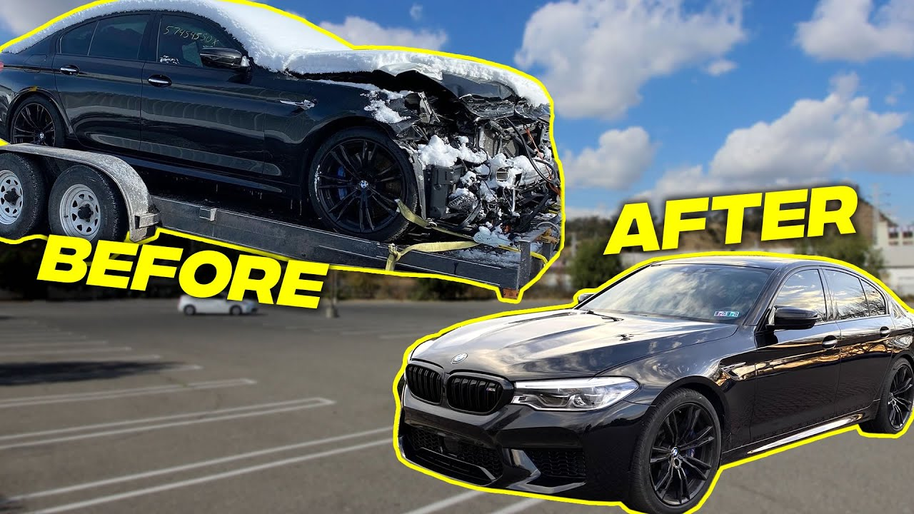 Rebuilding A SALVAGE BMW M5 F90 IN 10 MINUTES