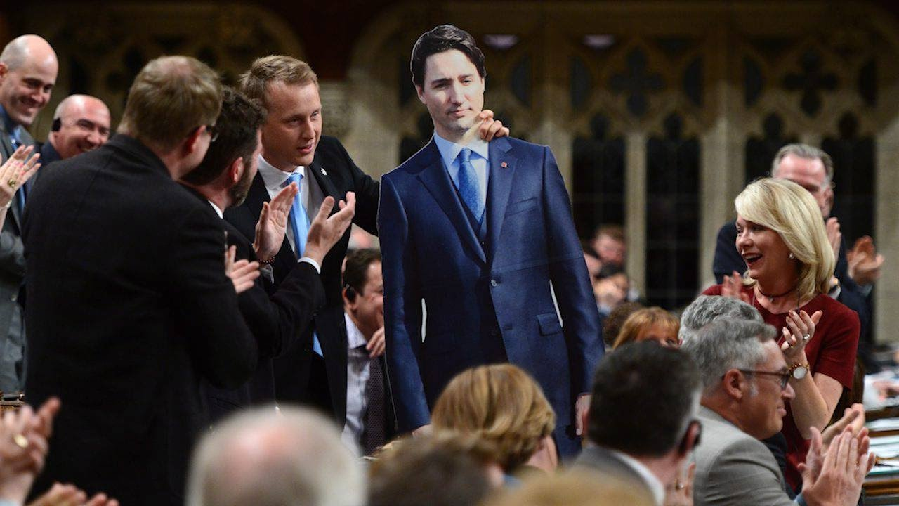 Tories bring Trudeau cardboard cutout to House of Commons