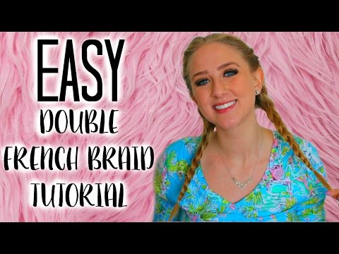 How To: Double French Braids! SO EASY! Hair Hack ♡