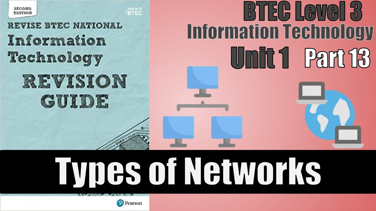 Part 13 - BTEC Level 3 - Information Technology - Types of Networks