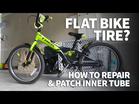 How to Patch a Bike Tube – Fix a Flat Bicycle Inner Tube with Coaster Brakes