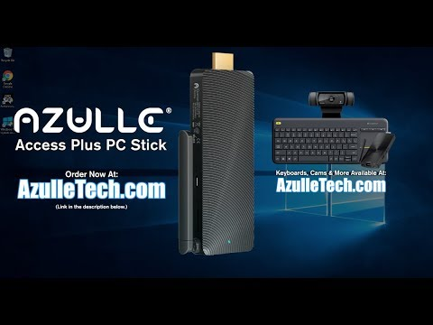 Azulle Access Plus Windows 10 PC Stick - Unboxing & Full Review - 4GB RAM, Intel CPU/GPU