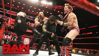Braun Strowman interrupts the United States Championship 2-on-1 Handicap Match: Raw, Jan. 9, 2017