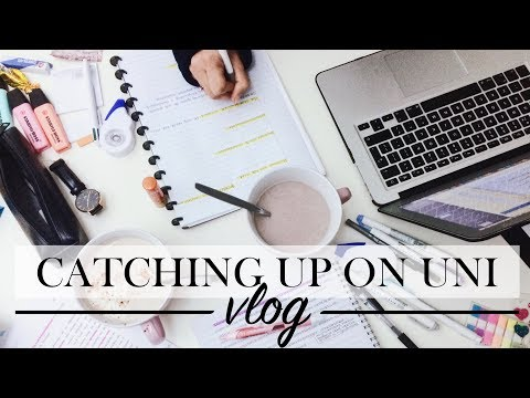 HOW TO CATCH UP ON SCHOOL - Study Vlog