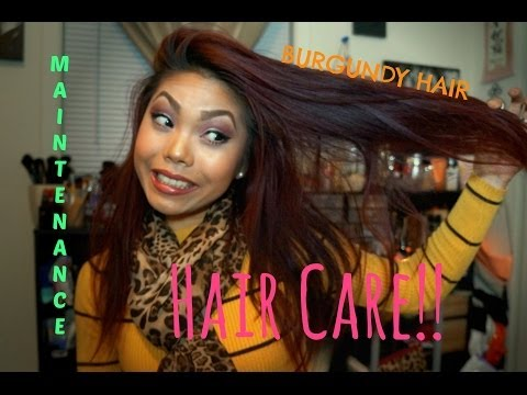 Hair Care! | Maintaining BURGUNDY hair so the color last!!