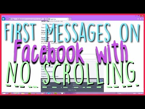 How To See First Messages on Facebook Without Scrolling
