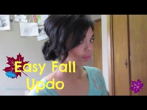 Fall Updo - For short hair