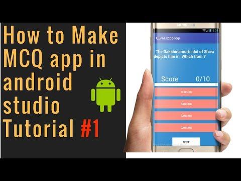 Create mcq Quiz app  in android studio || SQlite