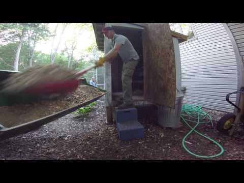 Cleaning out the chicken coop - Life at the Big House in the Little Woods