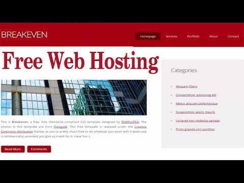 How to Get Free Web Hosting and Sub Domain name (Live Example with Website Upload)