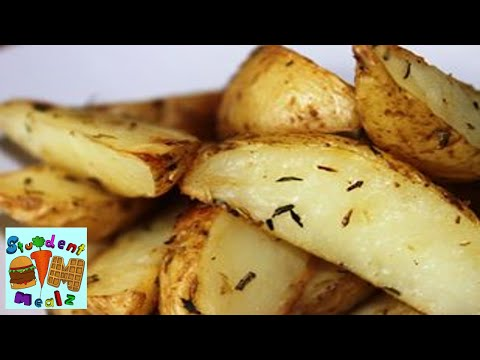 Student Mealz - How to make Potato Wedges (Oven Baked)