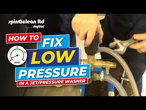 How to: Resolve a Low Pressure Problem on a Jet/Pressure Washer