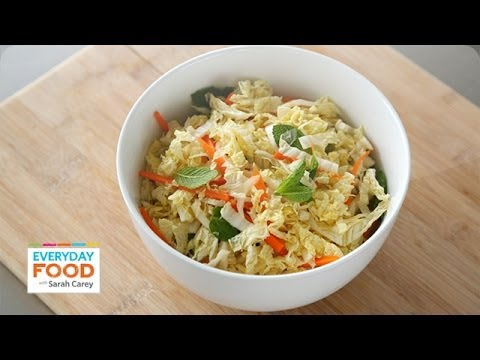 Asian-Inspired Napa Cabbage Slaw - Everyday Food with Sarah Carey