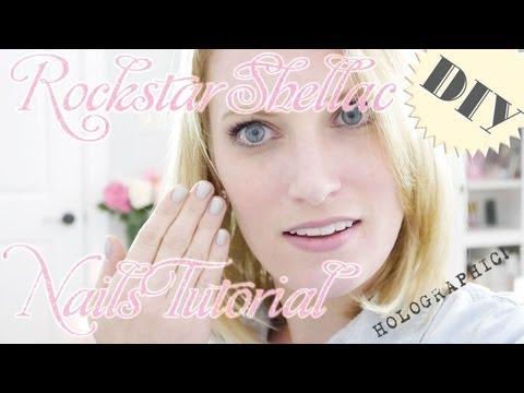 DIY Shellac Manicure + BONUS Rockstar Tutorial | Pretty Shiny Sparkly